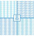 Dotted wave seamless pattern set