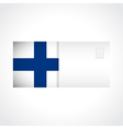 Envelope with Finnish flag card vector image vector image
