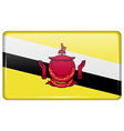 Flags Brunei in the form of a magnet on vector image