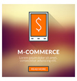 Flat design concept for M-commerce with blu vector image vector image