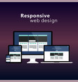 flat responsive web design concept vector image vector image
