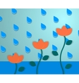 Flowers and the rain 2 vector image