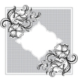 Frame with hand-drawing graphic ornament vector image vector image