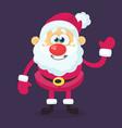 funny cartoon santa claus character vector image