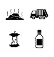 garbage waste simple related icons vector image