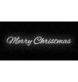 Glitter silver inscription Merry Christmas vector image