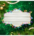 Glowing White Christmas Lights EPS 10 vector image