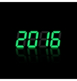 Green digital numbers 2016 vector image vector image