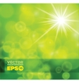 green shiny background vector image vector image