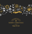 greeting merry christmas poster vector image vector image