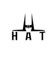 hat monogram vector image