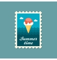 Ice Cream flat stamp summertime vector image vector image