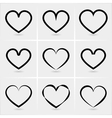 icons hearts vector image vector image