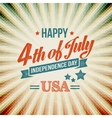 Independence Day typography card vector image vector image