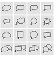 line speak bubbles icon set vector image vector image