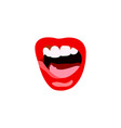 lips set lip design element vector image vector image