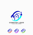 logo repairing house and painting vector image