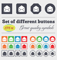 Mail envelope icon sign Big set of colorful vector image