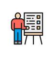 man with presentation teacher seminar vector image vector image