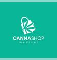 medical cannabis shop logo emblems label design vector image vector image
