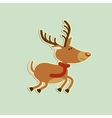 merry christmas deer vector image vector image