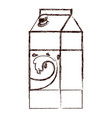 milk carton icon in brown blurred silhouette vector image