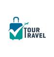 modern holiday travel agency logo vector image vector image