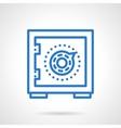 Money saving blue simple line icon vector image