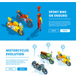 motorcycles banners template design of vector image
