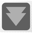 Move Down Rounded Square Button vector image vector image