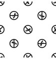 no locust sign pattern seamless black vector image vector image