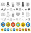 oktober festival in munich flat icons in set vector image vector image