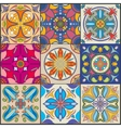 patchwork seamless wall tile pattern vector image vector image