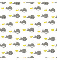 pattern with a small mouse and yellow cheese vector image vector image