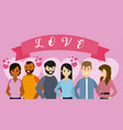 people and love vector image