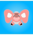 Pink elephant vector image