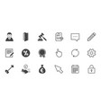 real estate auction icons home key sign vector image vector image