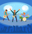 rock band concert flat vector image