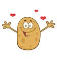 Romantic Potato Cartoon vector image vector image
