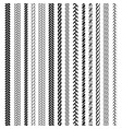 ropes pattern brushes vector image vector image