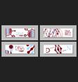 scientific brochure design template flyer layout vector image vector image