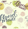 seamless background hand made vector image vector image
