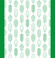 seamless pattern made of linear palm leaves vector image vector image