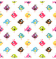 seamless pattern with cute colorful birds vector image vector image