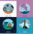 seaside landscapes concept icons set vector image vector image