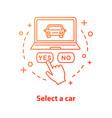 select car concept icon vector image vector image