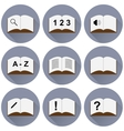 set of icons with a book vector image vector image