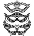set of isolated carnival masks vector image vector image