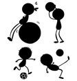 Silhouettes of sporty people vector image vector image