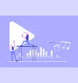 sound design professional people music concept vector image vector image